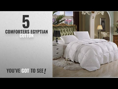 Top 10 ComfortersEgyptian Cotton [2018]: SUPER LUXURIOUS TWIN / TWIN XL Extra Long Size Goose Down