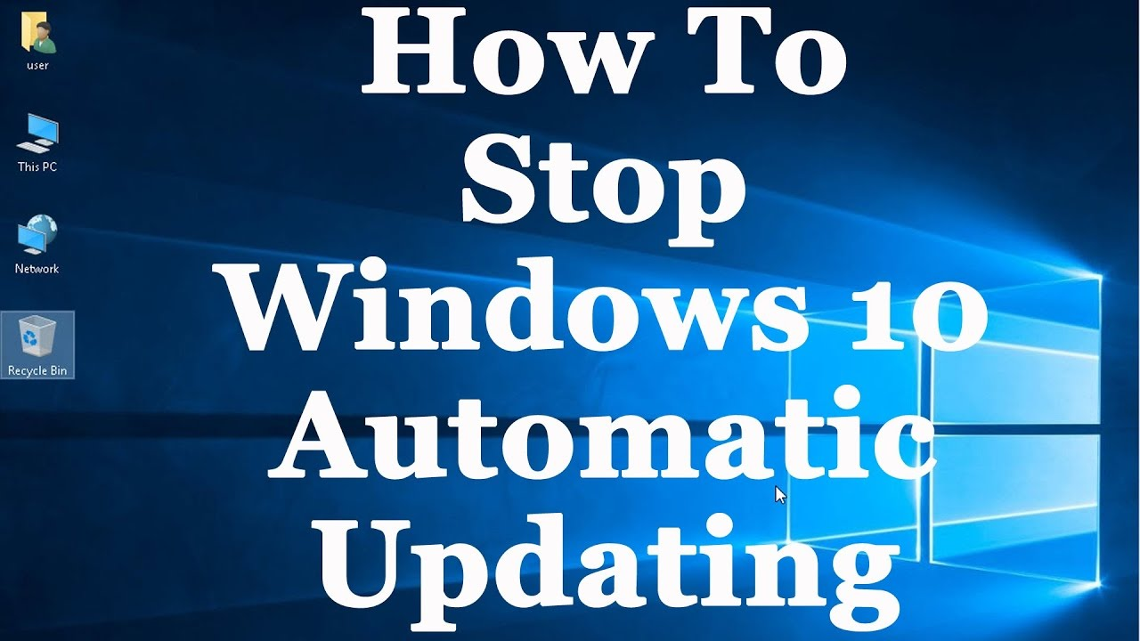 How to turn off automatic updates in windows pro bt