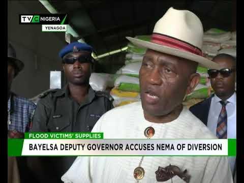 Bayelsa deputy governor accuses NEMA of diverting flood victims' supplies