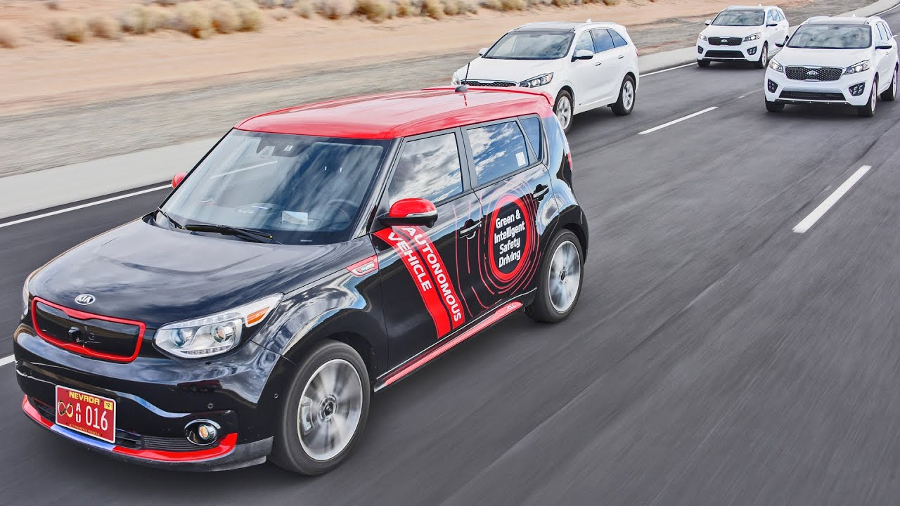 2016 kia autonomous car test drive