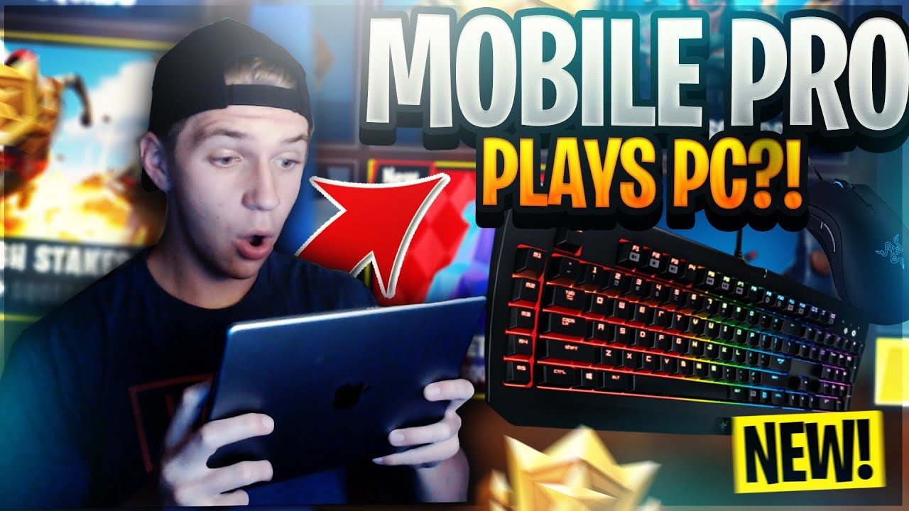 Pro Fortnite Mobile Player Plays PC For The FIRST TIME ...
