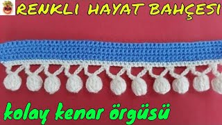 Crochet Pompom Edge Weave