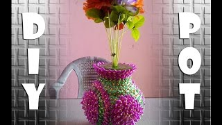 how to make a flower pot easy way