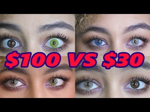 $100 Contacts VS. $30 Contacts (Solotica Hidrocor & Freshtone Super Naturals Comparison)