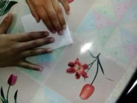 Оригами журавлик машущий