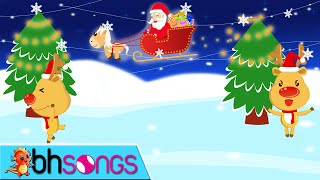 Jingle Bell song with lyrics and Lead Vocal | Christmas Song | Nursery Rhymes | Ultra HD 4K Video