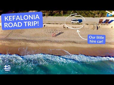 EXPLORING KEFALONIA GREECE by CAR - Antisamos, Lassi & Lourdas beach after HURRICANE IANOS