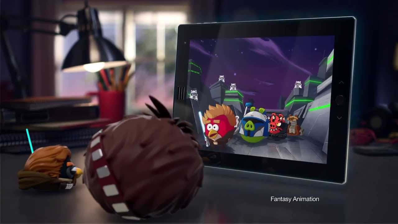 Angry Birds Star Wars 2 Telepods Commercial ft. Chewie ...  Angry Birds Sta...
