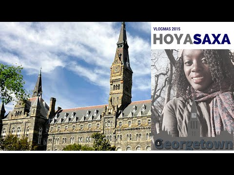Georgetown University Campus Tour #HoyaSaxa explained - VLOGMAS Day 4