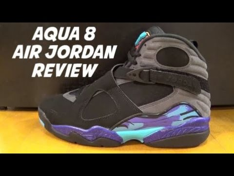 73f75b76e367 2015 Air Jordan Aqua 8 Retro Shoe Detailed REAL REVIEW - YouTube