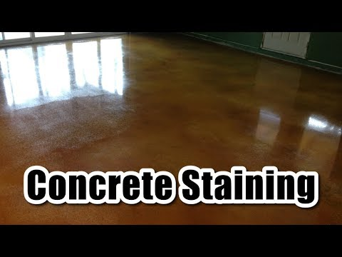 How To Stain And Seal Concrete Floor