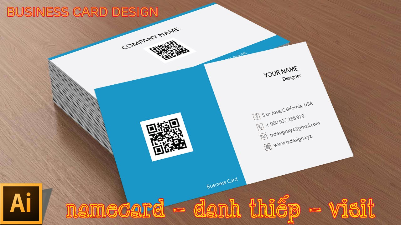 High Quality Cách Thiết Kế Namecard #02 | Template Business Card Design | Illustrator  Tutorial   YouTube
