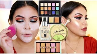 NEW DRUGSTORE MAKEUP 2018: FULL FACE FIRST IMPRESSIONS | JuicyJas