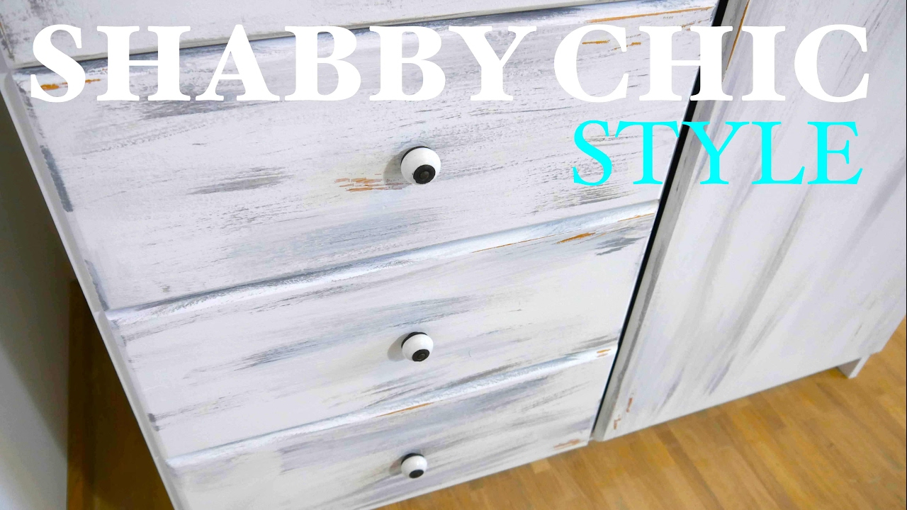 diy anleitung schrank im shabby shic style streichen schritt f r schritt youtube. Black Bedroom Furniture Sets. Home Design Ideas