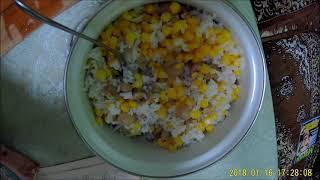 186. Салат с ветчиной и грибами #на скорую руку