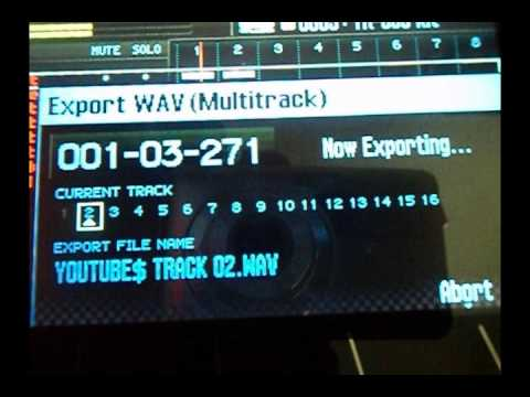 Roland FA-06 PT4 : Exporting Tracks or Songs