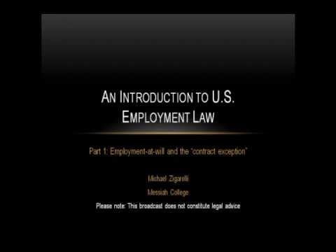 An Introduction to US Employment Law (part 1)