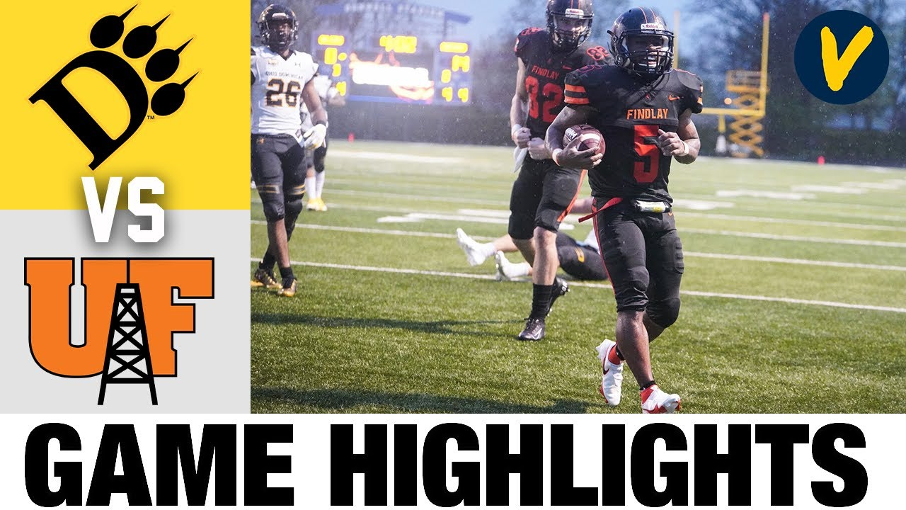 Ohio Dominican vs Findlay Highlights | D2 2021 Spring College Football Highlights