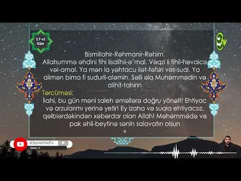 Mübarək Ramazan ayının 17-ci gününün duası Kərbəlayı Kamal