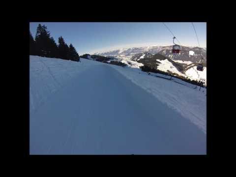 Soll, Austria. Main ski area. January 2017