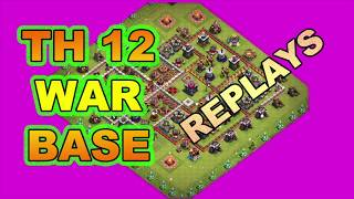 🔥 TH12 WAR BASE 2019🔥| Best Anti 2 and 3 Star Base | Plus Replays | Clash of Clans