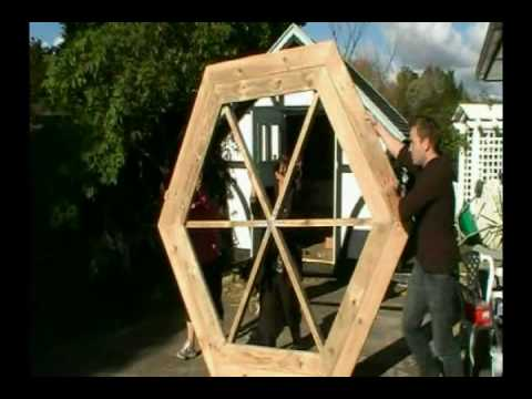 How to build a hexagonal picnic table - YouTube