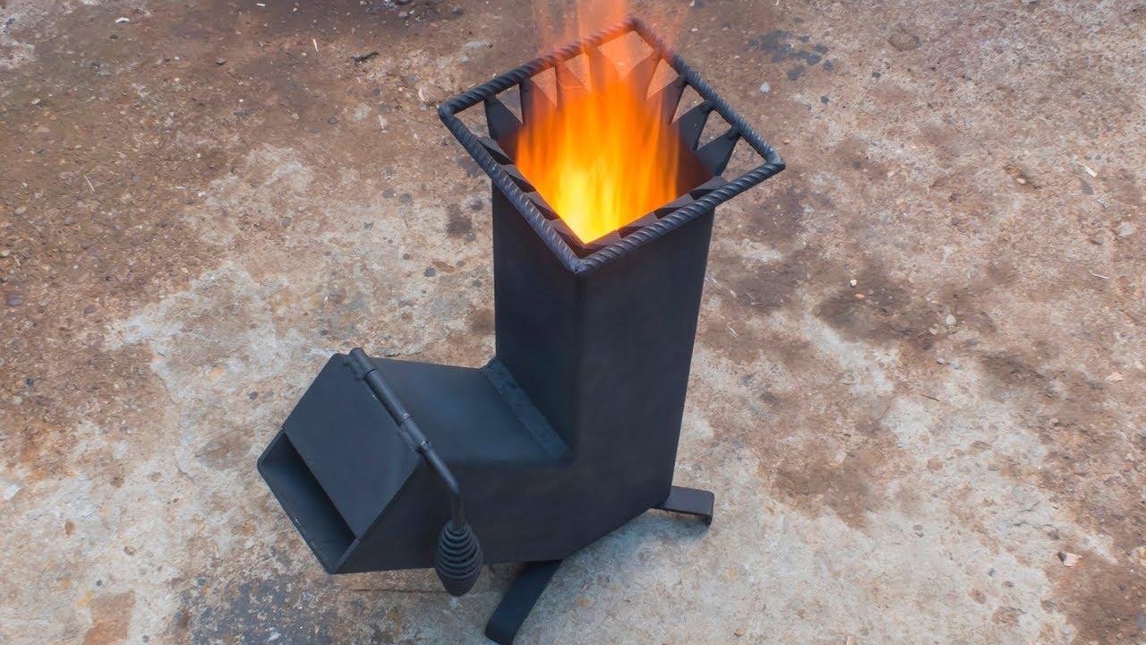 Homemade Wood Burning Rocket Stove Youtube