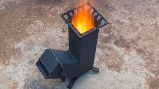Homemade wood burning Rocket stove