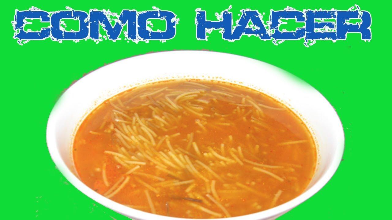 Como hacer una sopa de fideos youtube - Como hacer cubreradiadores ...