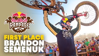 Brandon Semenuk Crowned Champion! | Full Winning Run | Red Bull Rampage 2019