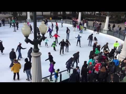 The McCormick Tribune Ice Rink in Millennium Park, Chicago... part 1... November 20, 2016.