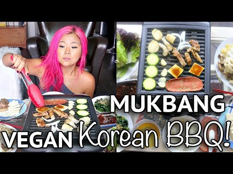 HOW TO: VEGAN KOREAN BBQ (MUKBANG / EATING SHOW)