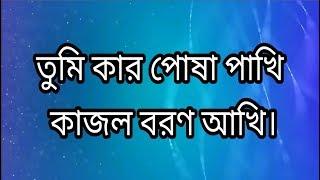 তুমি কার পোশা পাখি | Tumi kar posa pakhi (Lyrics) | Bangla Sad Song | Smart TuBe