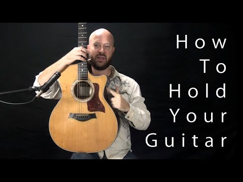 Holding the guitar to stay relaxed, maximize speed, and improve your sound