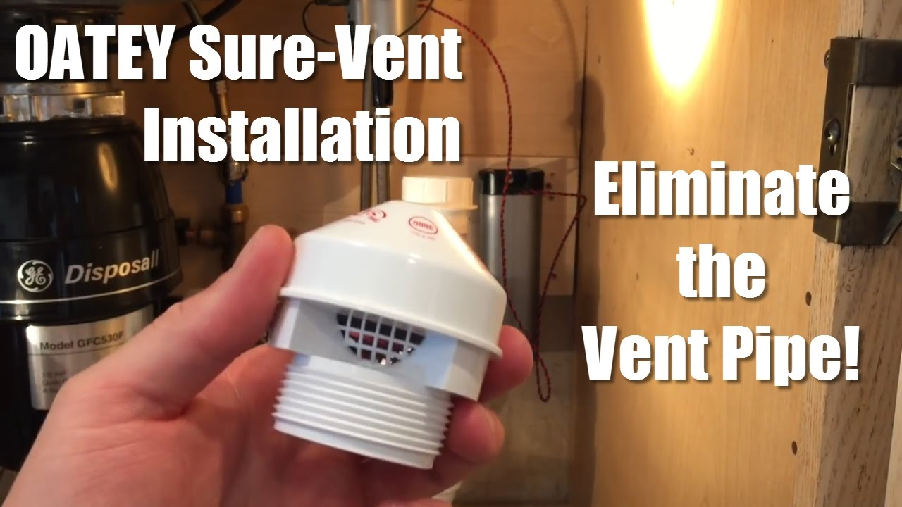Oatey Sure Vent Installation Eliminate The Vent Pipe