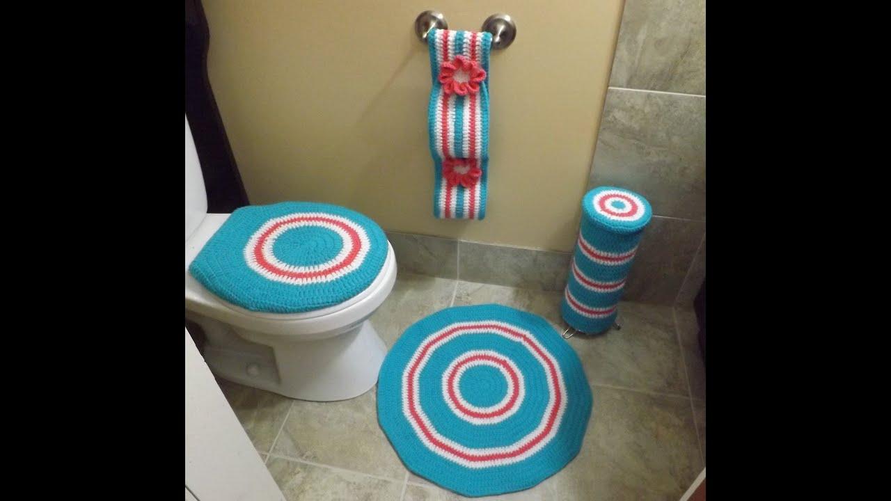 Juegos De Baño Sencillos:Crochet Juego de Baño parte 1 de 4 – YouTube