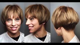 Женская стрижка на короткие волосы. Урок для парикмахера. Академия правильной стрижки.