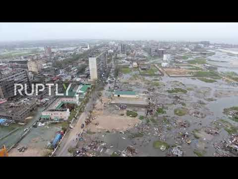 Mozambique: Cyclone Idai destroys '90 percent' of Beira *DRONE FOOTAGE*