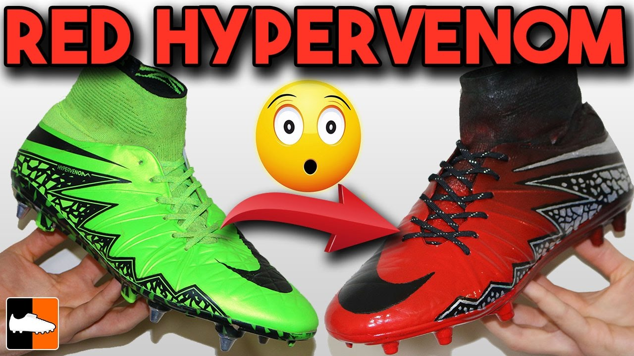 check out 41f18 56aa7 How To Make Red Limit Hypervenom - Nike Spray Paint Custom Boots