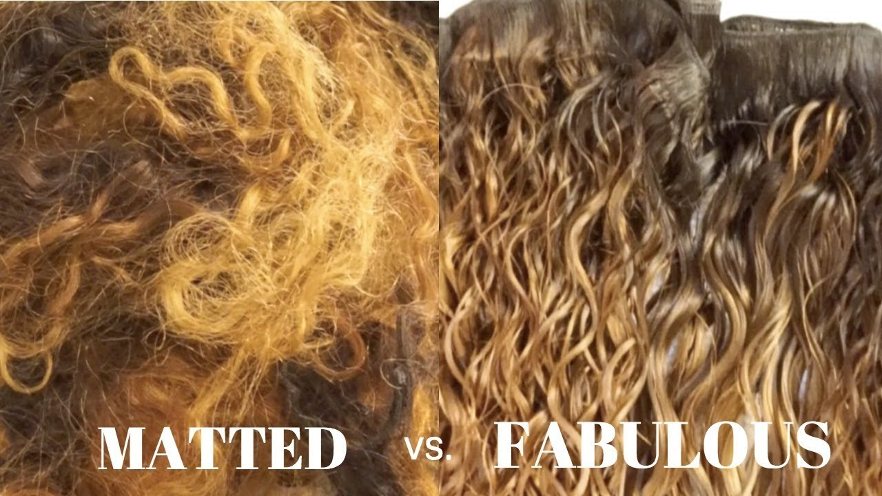 Part 1 How To Restore Revive Your Old Matted Hair Bundles Or