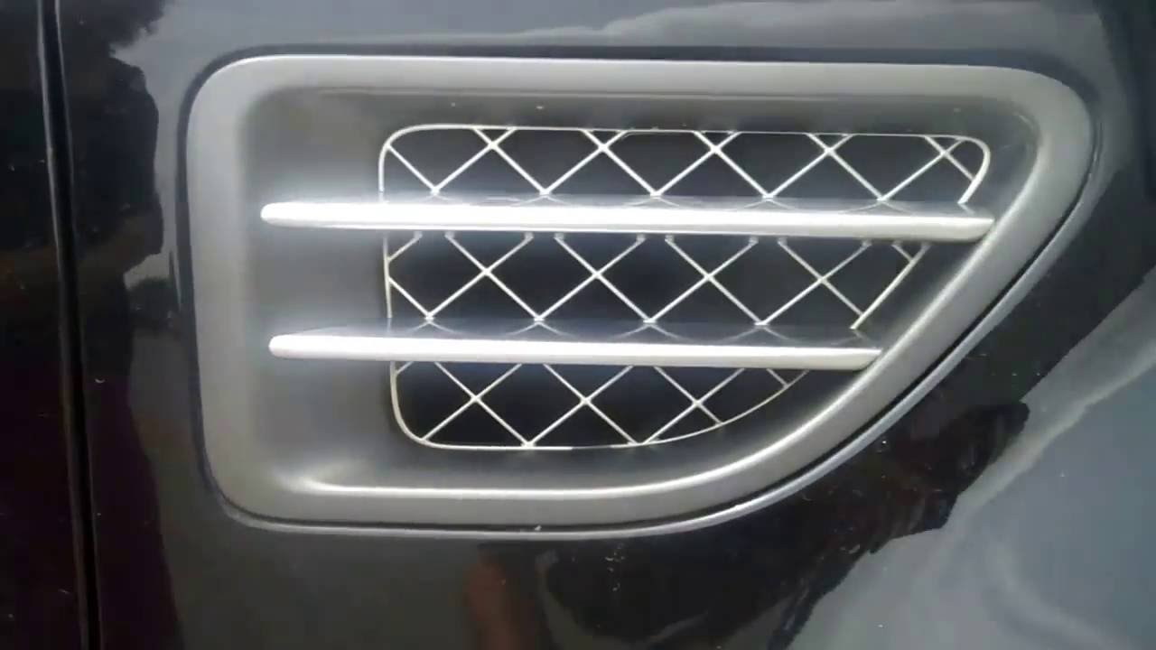 How To Fit Style Side Vents To Range Rover Sport