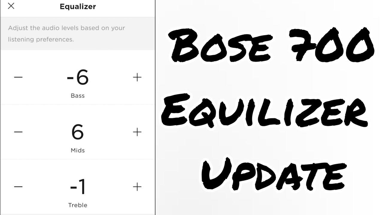 Bose Quietcomfort 35 Equalizer Settings