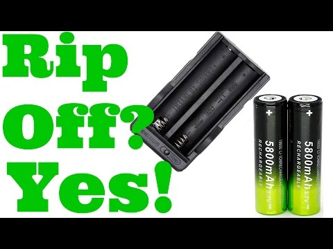 18650 Skywolfeye 5800mAh Green/Black Cell/Battery Yes, They Are A Rip Off Thorough Review