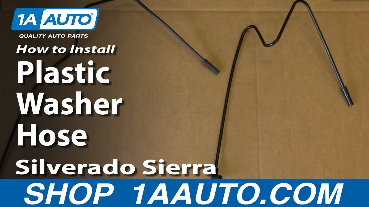 how to install replace plastic washer hose 2000 06 silverado sierra suburban tahoe yukon [ 1280 x 720 Pixel ]