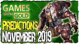 Xbox Games With Gold November 2019 Predictions | Xbox Live Gold November 2019