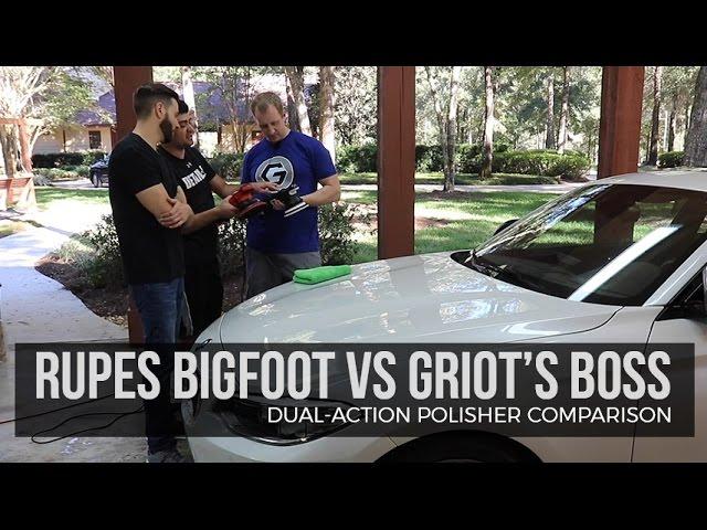 Rupes Bigfoot/Griots Boss Polisher Comparison