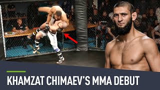 Now a rising star of the ufc, we take you back (courtesy fight club rush) to khamzat chimaev's first ever as mixed martial artist!https://www.yout...