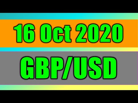 GBP/USD Daily Forecast Analysis on 16 October 2020 by Trading Gold Today Review