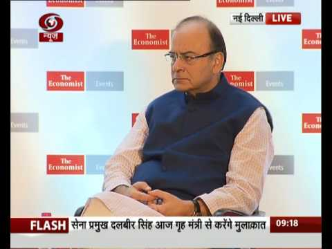 FM Arun Jaitley speaking at The Economist India Summit 2016