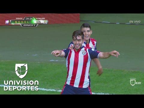 Golazo de Rodolfo Pizarro para poner el 1-0 de Chivas sobre Rayados
